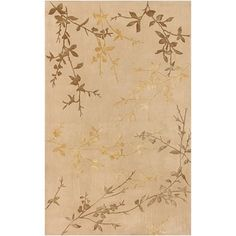 Art of Knot Clio Wool/Viscose Area Rug, Beige