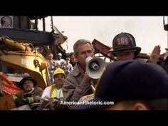 President George W. Bush: Bullhorn Speech to Emergency Rescue Workers at 9/11 Ground Zero, New York. Delivered 14 September 2001. Complete transcript and audio mp3 at: http://www.americanrhetoric.com/speeches/gwbush911groundzerobullhorn.htm