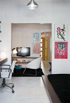 Com simplicidade e economia, apê de 30 m² fica prático - Casa