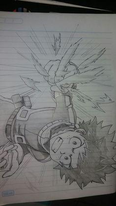 my hero academia Art Drawings Sketches, Cute Drawings, Dibujos Anime Chibi, Anime Character Drawing, Estilo Anime, Anime Sketch, Anime Artwork, My Hero Academia Manga, Anime Shows