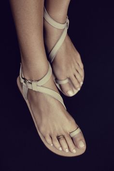leather sandals instead of flip flops