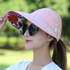 OUOK Fashion Womens Visor Hat Sunhat Printed Head Scarf Keep Warm Cap Topee Sun Hats for Women Chapeau Femme