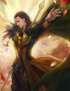 Born to rule by jiuge.deviantart.com on @deviantART - This picture of Loki might fall more on the side of manhua (i.e. Chinese animation) than anime/manga in style, but....