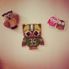 a cute representative of American football :) Owl you need is a needle and some string:) #crossstitch