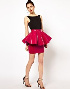 Rochas Patent-leather skirt | Luxe Haute Leather & Suede ...