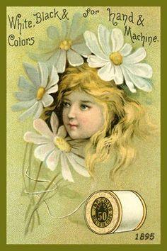 Flower girl thread card.