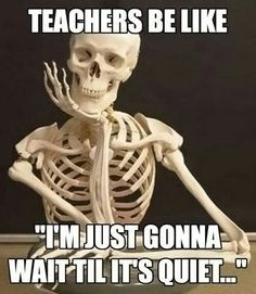 teachers be like - i'm just gonna wait til it's quiet Funny Teacher Memes, perfect for back to school. Share with your favorite teachers. school jokes classroom Funny Teacher Memes for Back to School Teacher Jokes, Best Teacher, Teacher Problems, Being A Teacher, Student Problems, Biology Teacher, Math Teacher, Teacher Stuff, Classroom Memes