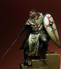Templar knight miniature