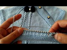 YouTube Knitting Videos, Free Knitting, Knitting Projects, Baby Knitting, Crochet Baby, Knit Crochet, Baby Vest, Baby Cardigan, Yarn Crafts