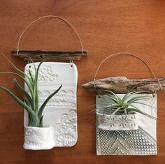 Porcelain air plant holders art ideas plant pots Texture & Hue Studio on… – Air Dry Clay Hand Built Pottery, Slab Pottery, Ceramic Pottery, Thrown Pottery, Clay Projects, Clay Crafts, Diy And Crafts, Pottery Handbuilding, Creation Deco