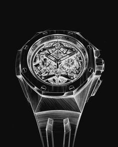 From the first drawing, the Royal Oak Concept showed the marriage between futuristic design and the tradition of Audemars Piguet. Audemars Piguet Royal Oak, Futuristic Design, Marriage, Concept, Watches, Drawing, Accessories, Collection, Casamento