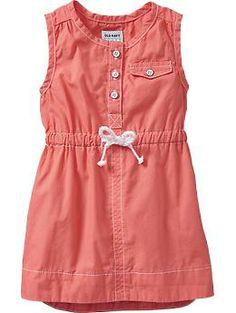 Poplin Shift Tank Dresses for Baby Product Image Frocks For Girls, Toddler Girl Dresses, Little Girl Dresses, Toddler Outfits, Kids Outfits, Girls Dresses, Old Navy Toddler Girl, Toddler Girl Style, Frock Design