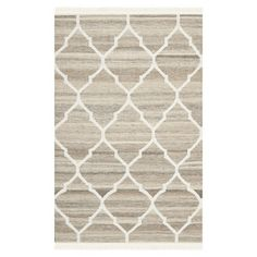 Found it at Wayfair - Natural Kilim Light Grey & Ivory Dhurrie Rug -  When I change my Living Room décor one of these days, I'd like to use this type rug with yellow and white. . .