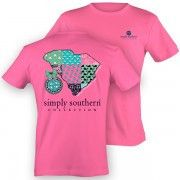 Simply Southern Tee in Hot Pink with South Carolina Graphic