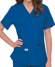 a1bac450408 KANGAKAIA Urbane Scrubs Double Pocket Crossover Top medical uniforms  wholesale KASC003 Womens Scrubs, Medical Uniforms
