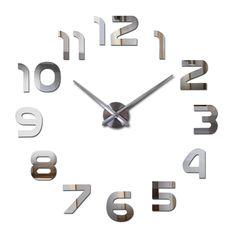 2017 New Clock large Watch Wall Clocks Modern Design Large Decorative Quartz Living Room  Acrylic Circular Needle