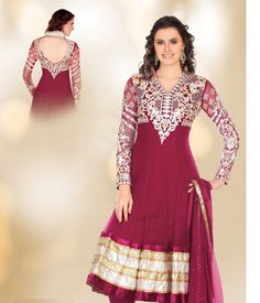 Bottle Green Net Lace MultiReshamStones Knee Length Salwar Suit - Imgur