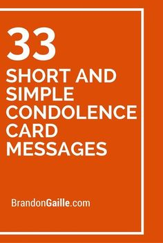33 Short and Simple Condolence Card Messages