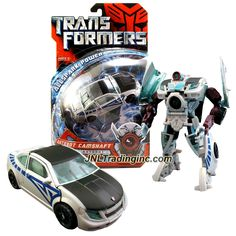 "Hasbro Transformers 1st Movie Allspark Power Series Deluxe Class 6"" Tall Figure - Autobot CAMSHAFT with Extending Torso Cannon (Vehicle Mode: Coupe)"