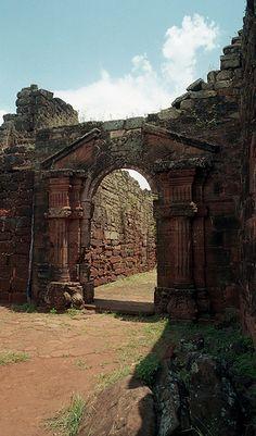 Argentina Ruinas. JESUITAS de San Ignacio Misiones