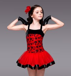 """Spanish Eyes"" Girls Tutu Dress - Style Number: TH1077C SPANISH DOLLS"