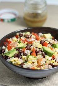 dinner or dessert: quinoa, black bean & citrus salad