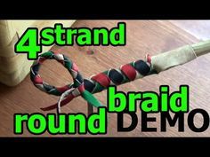 DEMO 6: 4 Thong Leather Round Braid with and without a Core - YouTube