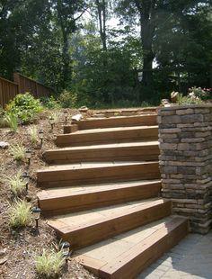Moderní schody do zahrady
