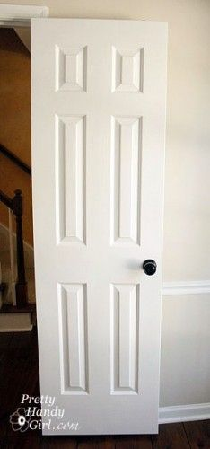 How to Paint Doors (The Professional Way): i would love to paint all the dark wood doors white! cheaper than replacing them all....