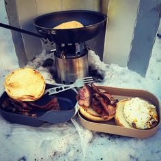 Today's cook kit. #solostove #wildo #baconandeggs #heavycoverincspork #gsibugaboo @heavycoverinc @gsioutdoors @solostove @wildosweden