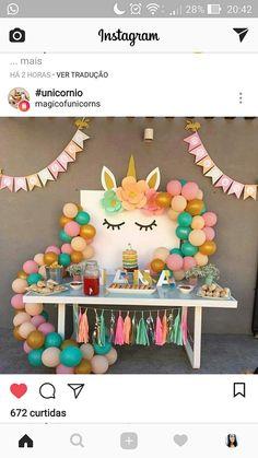 Unicorn Birthday Parties, Unicorn Party, Birthday Fun, First Birthday Parties, Birthday Party Decorations, First Birthdays, Adoption Party, Dream Party, Pony Party