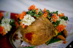 Indian Engagement | Telegu Engagement | Engagement Decoration | Engagement Photographer | Destination Engagement | Engagement Decoration | Coconut and Flowers www.potoksworldphotos.com