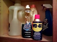 Use WD-40 and Dawn to get grease stains out of clothes.  I have done this and it works great!