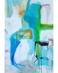 """""""Greens and Blues"""" by Emily Brown, $1,200, Subscribe at: www.charlestonartistcollective.org"""
