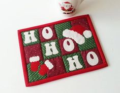 GET A FREE PATTERN WITH PURCHASE NOW UNTIL DECEMBER 23, 2013 ............  HO HO HO Mug Rug pattern on Craftsy.com