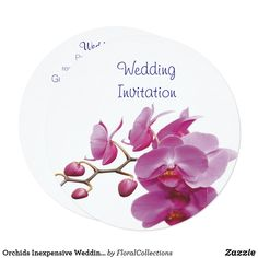 Shop Orchids Inexpensive Wedding Packages Sets Kits Invitation created by FloralCollections. Zazzle Invitations, Wedding Invitations, Table Cards, Save The Date Cards, Bride Gifts, Wedding Designs, Floral Wedding, Orchids, Bridal Shower