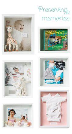 Cute ways to preserve and display baby keepsakes