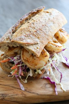 Slimmed Down Shrimp Po' Boy