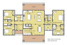 Unique Home Plan with Main Floor Master - Pine Creek Cottage