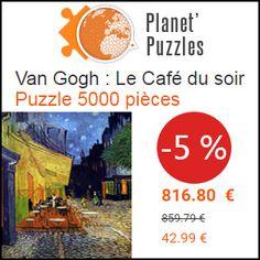 """#missbonreduction; """"5% de remise sur Van Gogh : Le Café du soir Puzzle 5000 pièces chez Planet Puzzles"""". http://www.miss-bon-reduction.fr//details-bon-reduction-Planet-Puzzles-i855869-c1828858.html"""