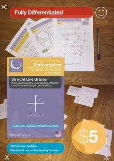 Straight Line Graphs worksheets.
