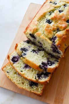 """This Blueberry Buttermilk Zucchini Bread screams """"Best of Summer"""" with the fresh blueberries that dot through this moist zucchini bread. Moist Zucchini Bread, Blueberry Zucchini Bread, Zuchinni Bread, Zucchini Bread Recipes, Blueberry Recipes, Blueberry Loaf, Banana Bread, Breakfast Recipes, Dessert Recipes"""