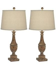 Pacific Coast Collier Table Lamps, Set of 2 Rustic Lamp Sets, Kathy Ireland, Table Lamp Sets, Traditional Looks, Pacific Coast, Dining Furniture, Home Lighting, Lamp Light, Floor Lamp