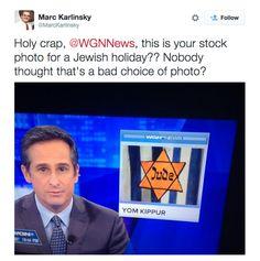 Ye Olde Journalist: WGN-TV: Chicago TV Station Uses Nazi Symbol for Segment About Jewish Holiday Yom Kippur