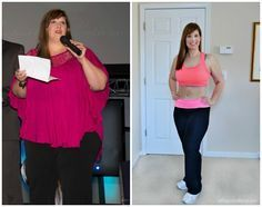 Heather before and after 100 pounds - weight loss