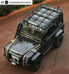 Land Rover Defender 110 customized to Espectre Edition m superb. Land Rover Defender 110, Defender 90, Landrover Defender, Jeep Truck, 4x4 Trucks, Jurassic World Park, Car Throttle, Best 4x4, Offroader