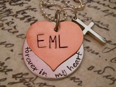 Hand Stamped In Memory Of Necklace by DanielleJoyDesigns on Etsy, $27.00 (A local, Tacoma Artisan even!!)