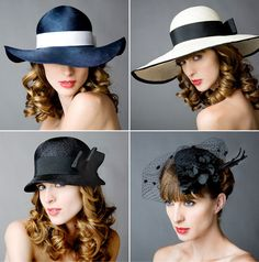 Sometimes I wish we still wore fancy hats like this.
