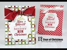 Bag Merry Little Christmas stamp set with the Deco Labels Framelits.**With instruction video
