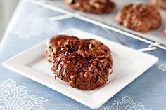 Flourless Chocolate, Almond and Coconut Cookies